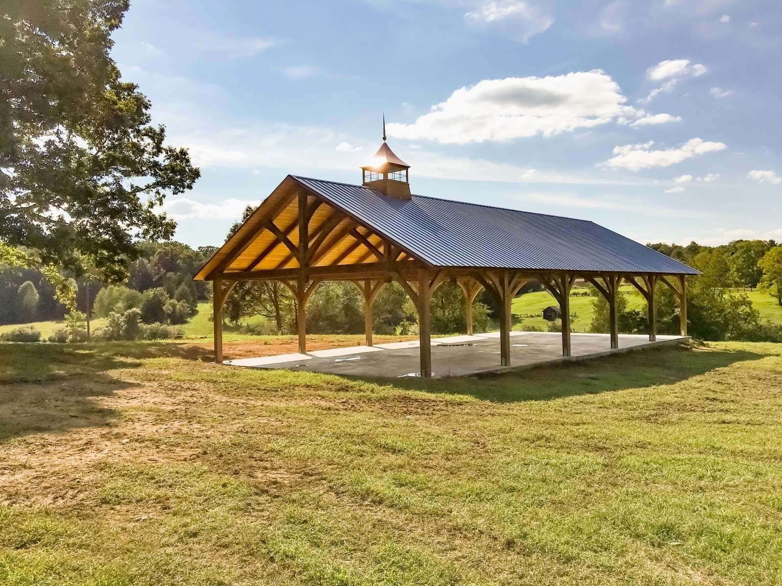 30x60 Kingston Timber Frame, Metal roof, Hemlock with stain