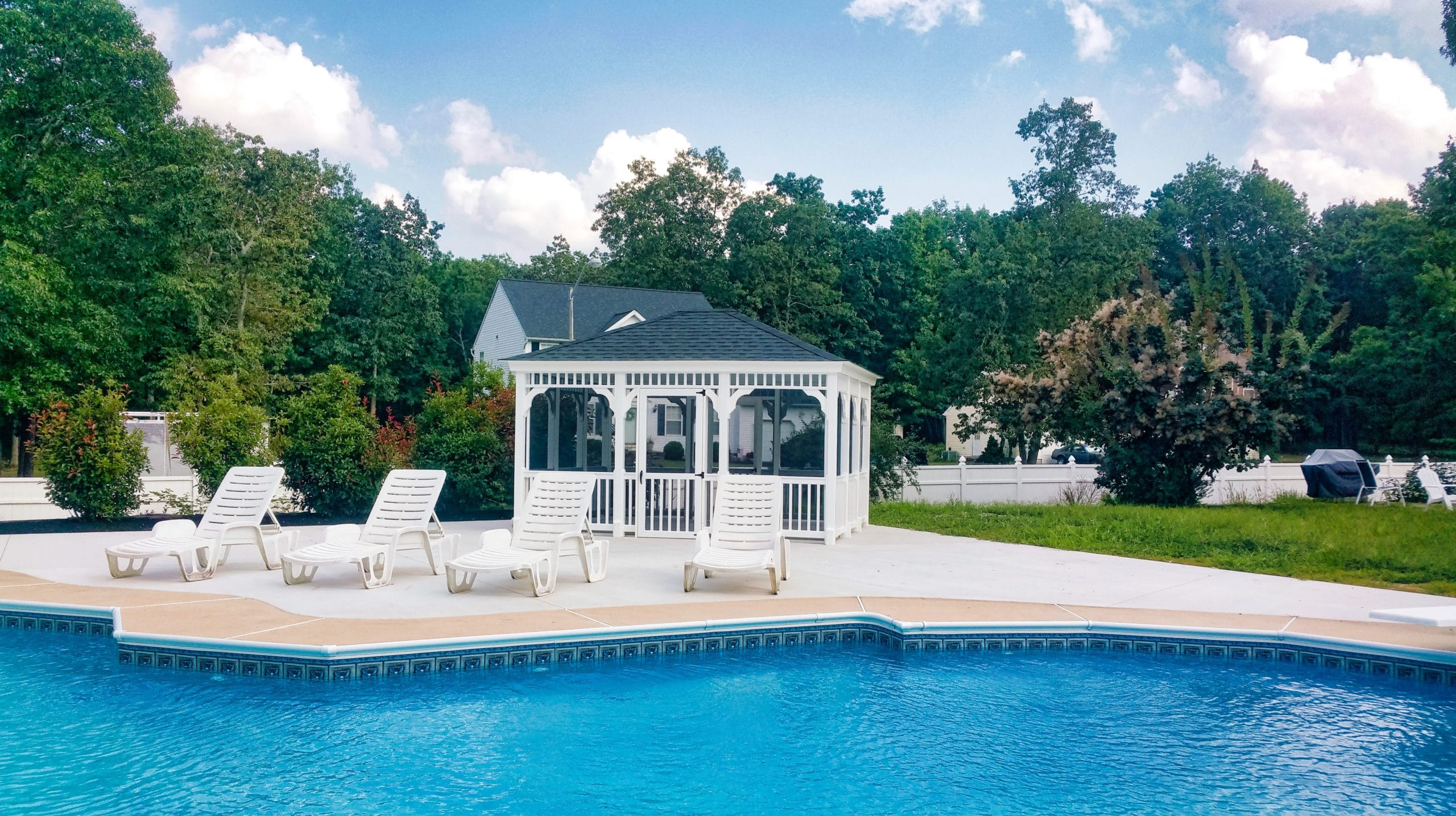 12x14 Vinyl Rectangle Poolside Gazebo 1