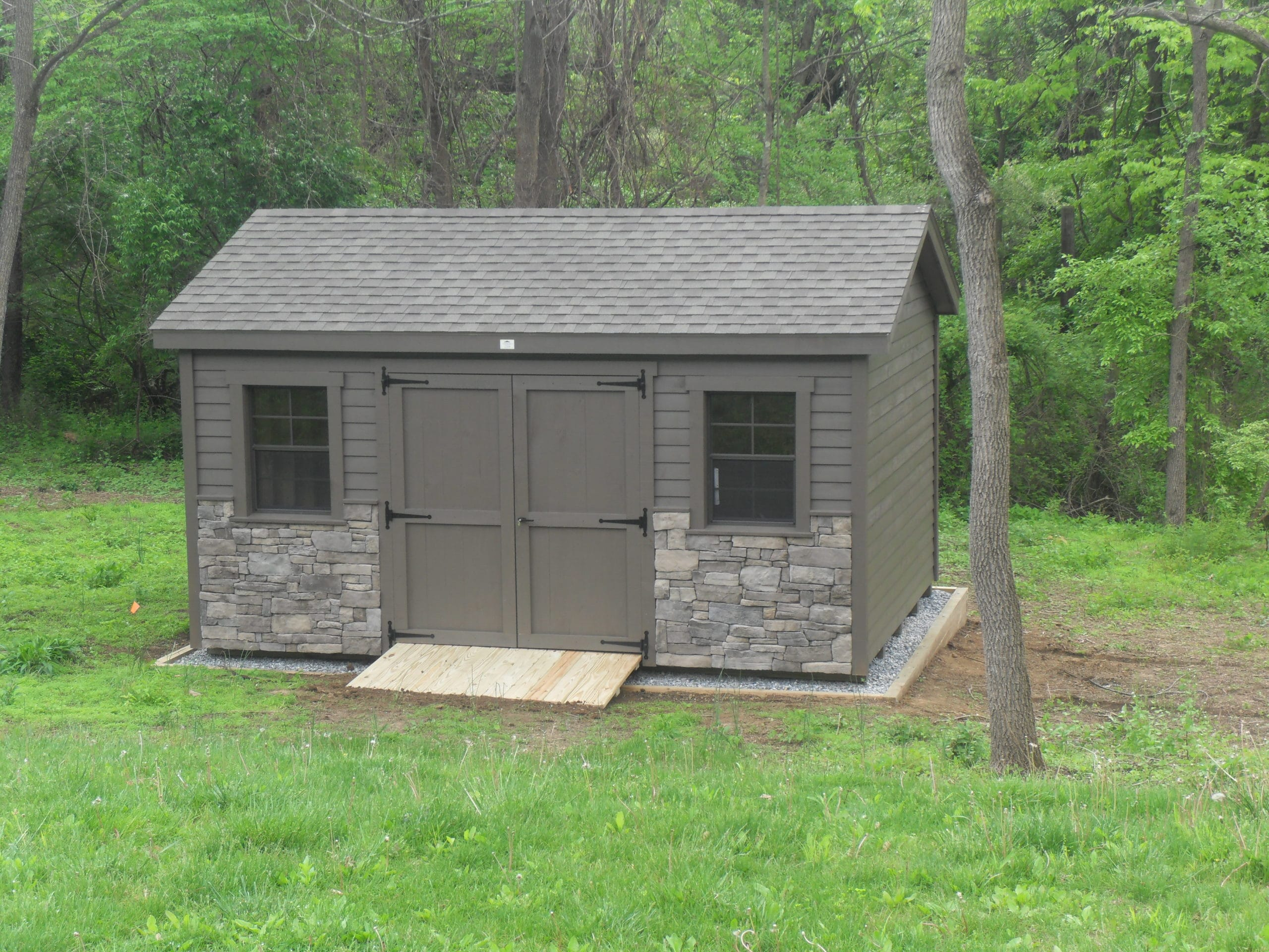 12x16 Rough Sawn Lap Siding Workshop 1