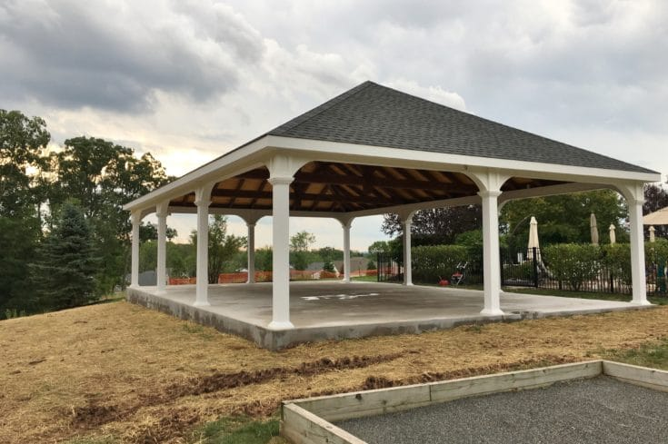 30×45 Montford Vinyl Pavilion with Timber Frame Roof system