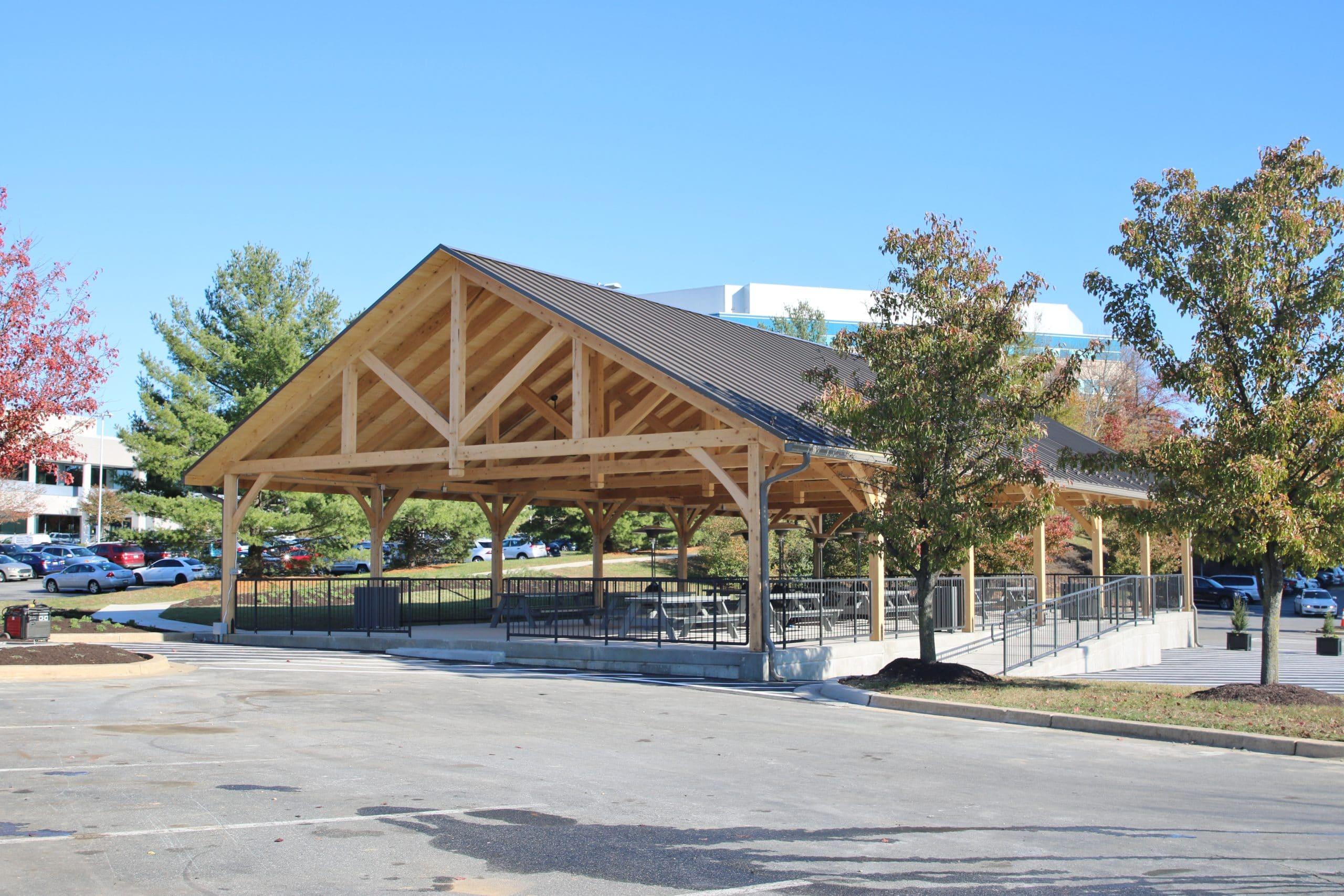 40x80 Kingston Timber Frame Pavilion 1