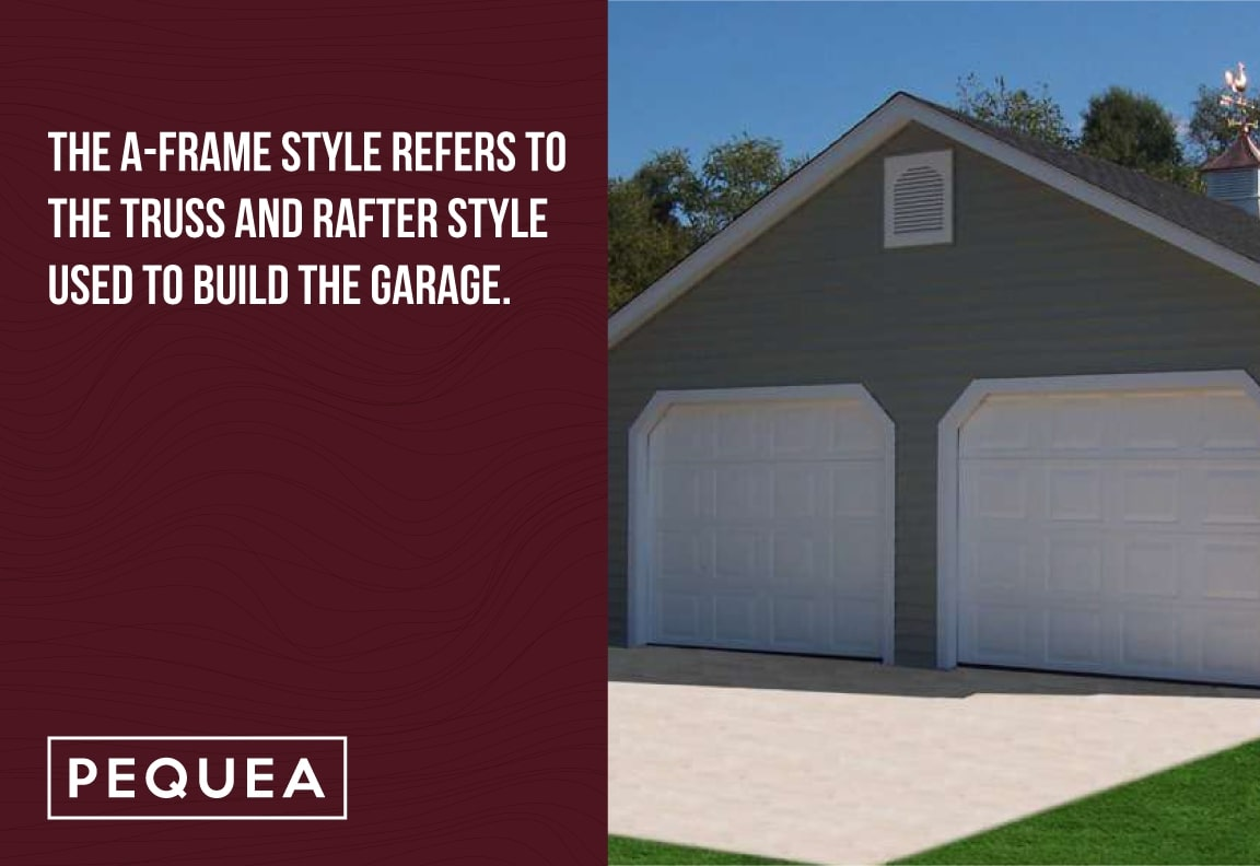 a-frame garages refers to the truss and rafters