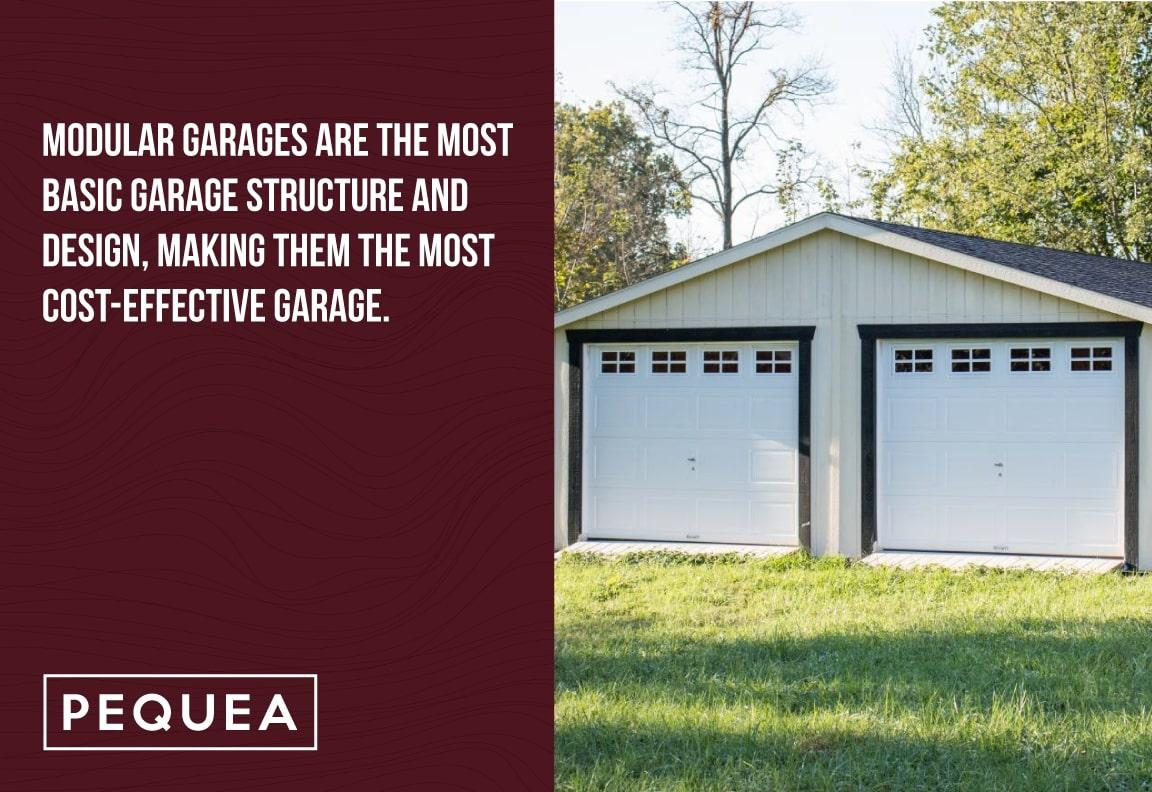 modular garages are a basic garage structure