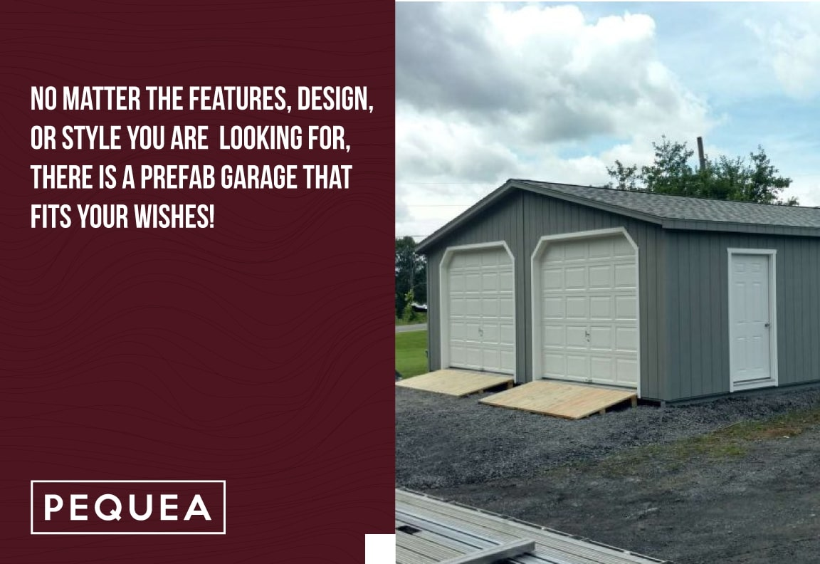 no matter the features, a prefab garage fits your style