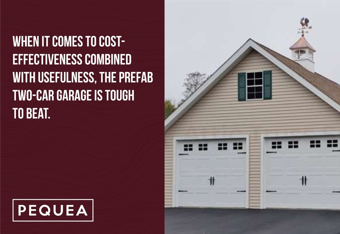 prefab 2 car garages are cost effective
