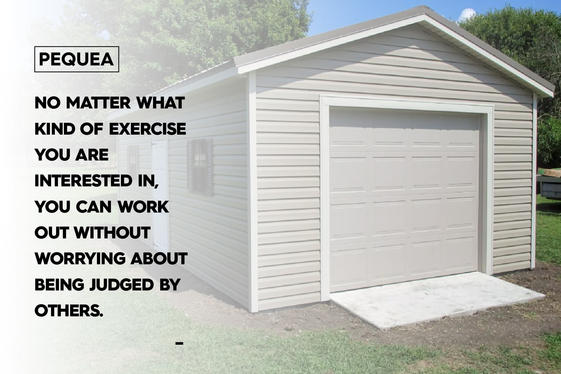 garages are a great place to exercise