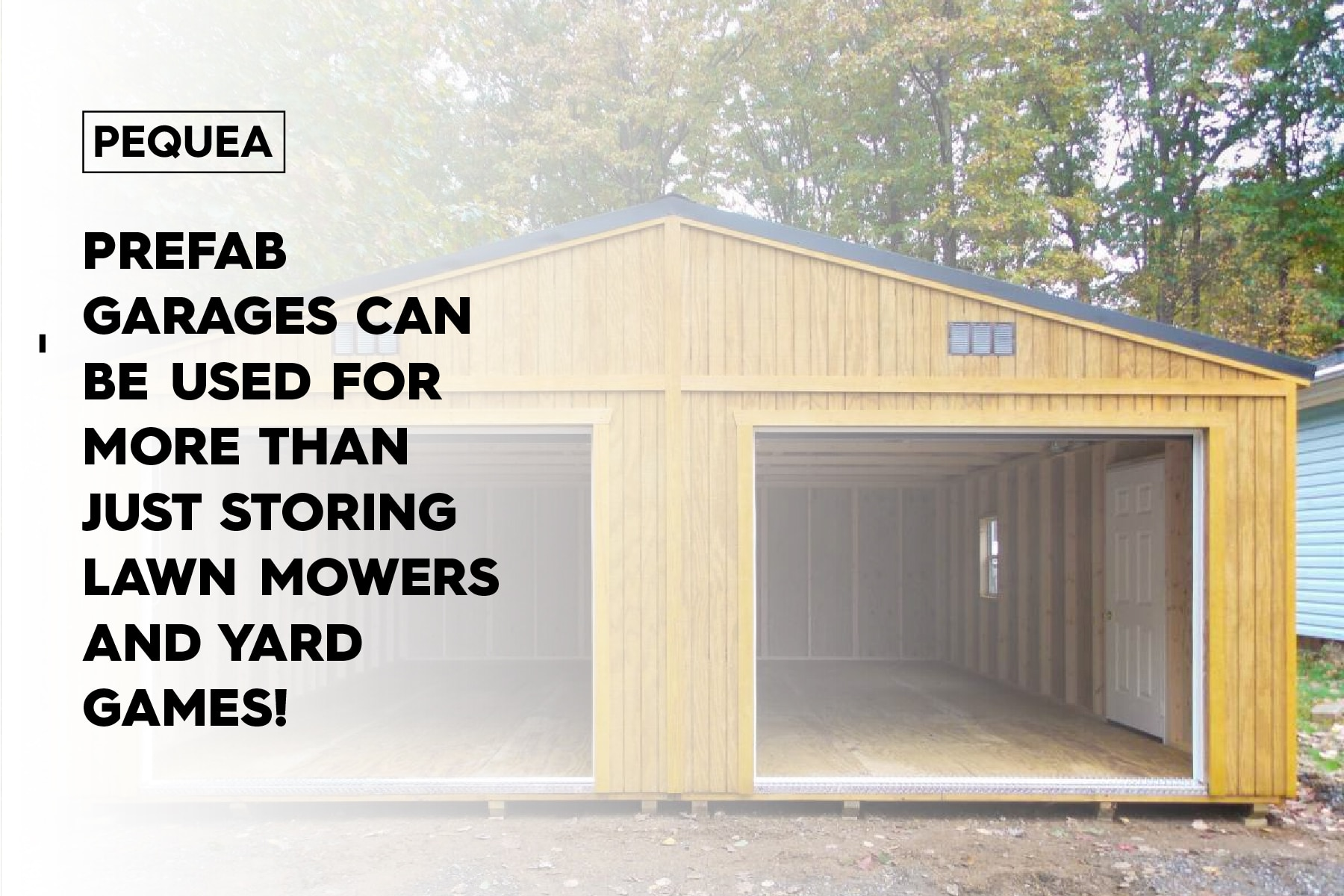 prefab garages can store more than just lawn mowers and tools