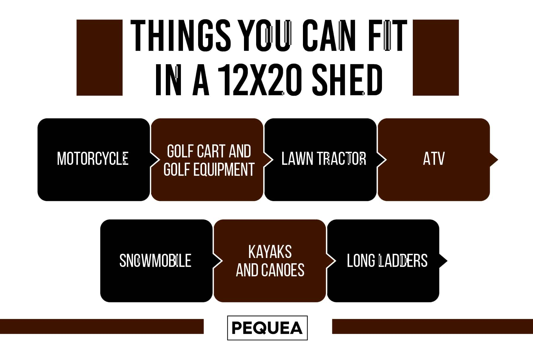 things you can fit in a 12x20 shed