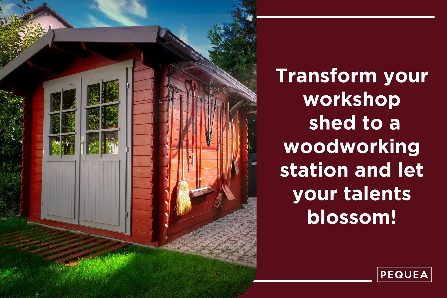 a workshop shed can be used as a woodworking area