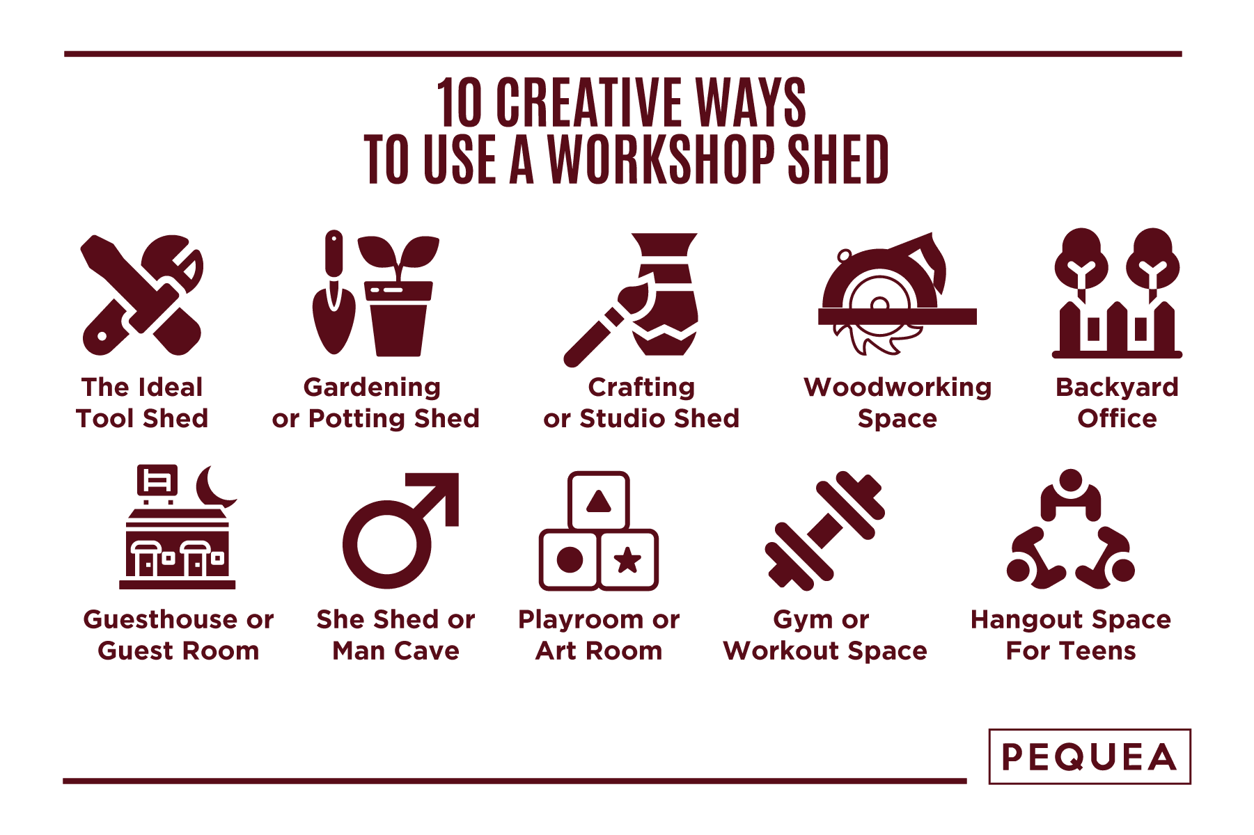 creative ways to use a workshop shed