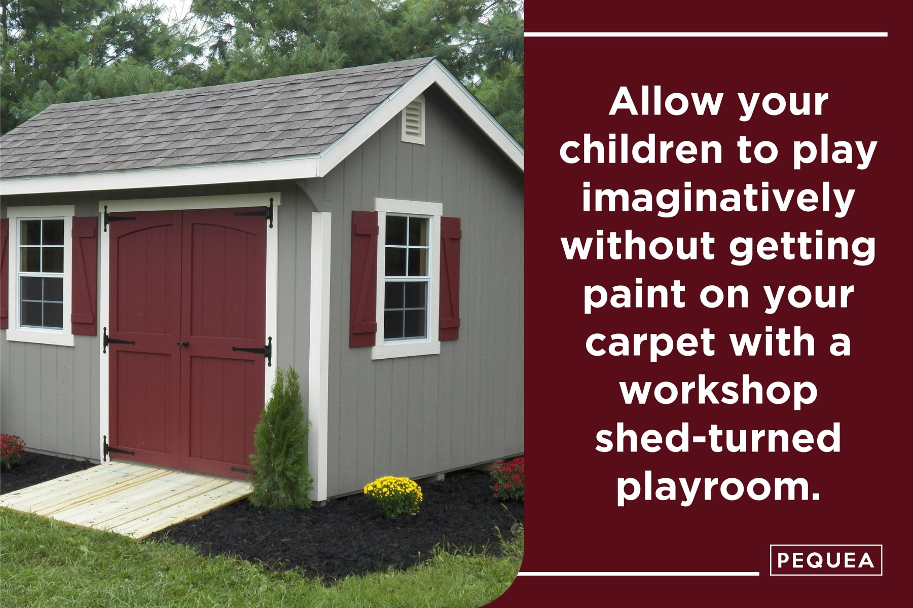 how to turn a workshop shed into a playroom